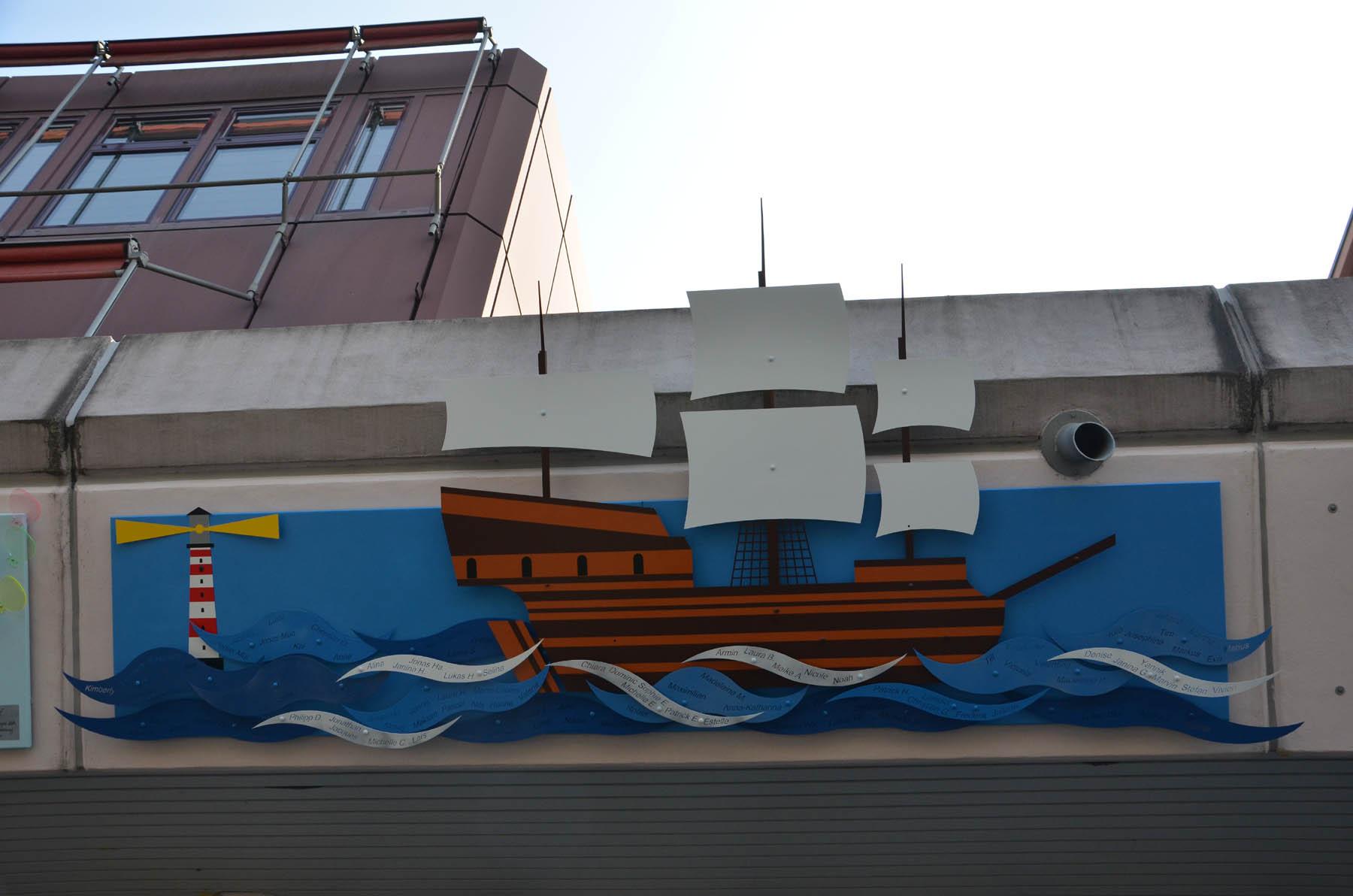 08 Segel setzen Fassadenprojekt15